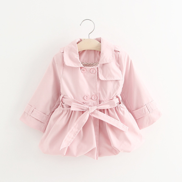 Baby Girl's Fashion Solid 3 color  jackets Girls Outerwear Children's Coat Spring Baby Coats