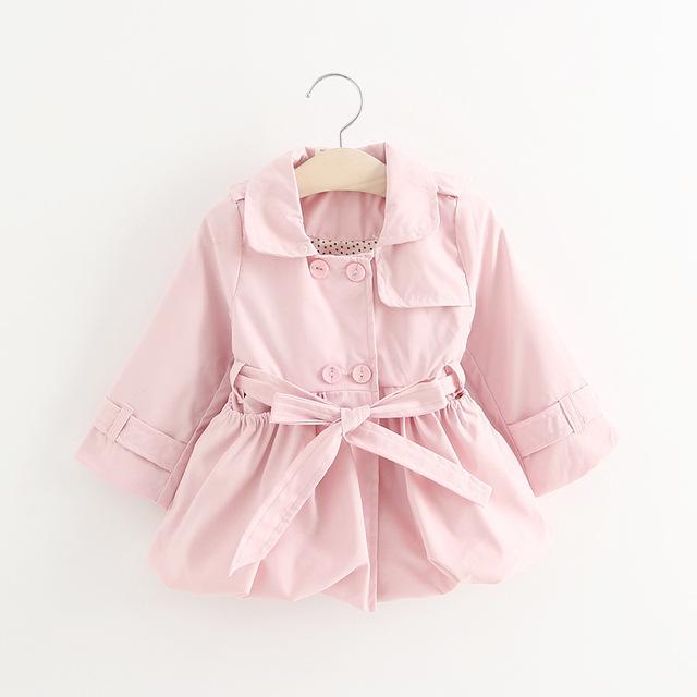 Moda Sólido de color 3 chaquetas del Bebé Niñas Ropa de Abrigo Capa de Los Niños Del Bebé Abrigos de Primavera