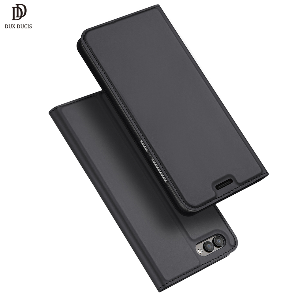 DUX DUCIS Flip Case for Huawei Honor V10 PU Leather TPU Soft Bumper Protection Card Holder Wallet Stand Cover Mobile Phone Bag