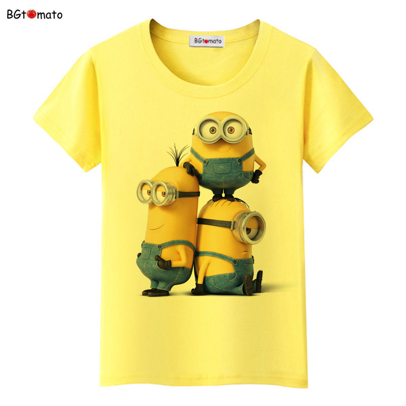 bgtomato minions funny tops cute t shirts women famous. Black Bedroom Furniture Sets. Home Design Ideas