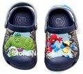 Free shipping Hot sale 3D cartoon the hulk superHero  beach sandal slippers children boys girls size :6C7-12C13 spring summer