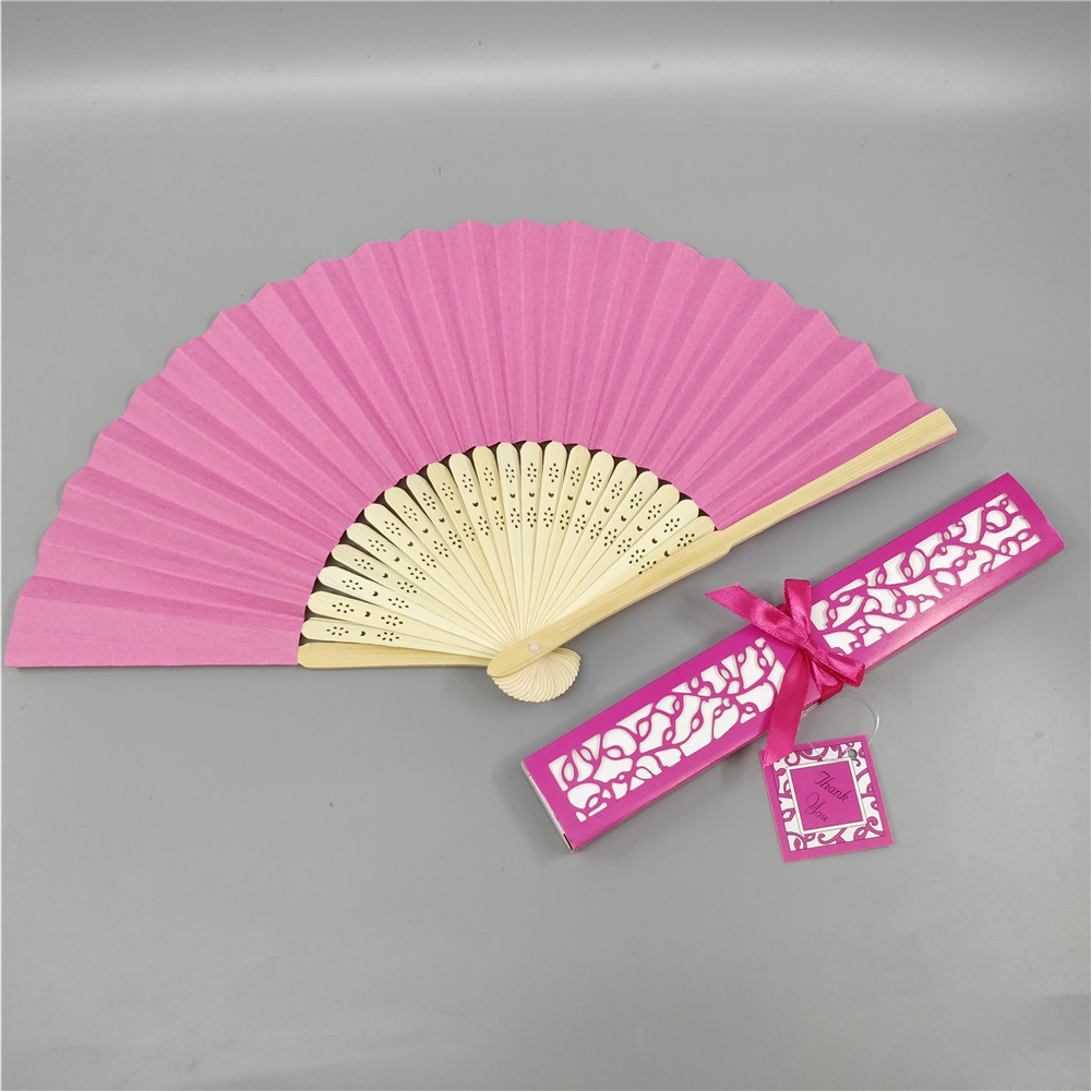 Personalized Chinese Hand Paper Fans Pocket Folding Bamboo Fan ...