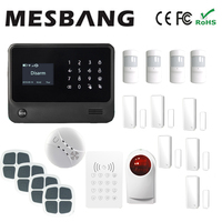 Wifi GSM GPRS Home Anti Theft Alarm System With English French Russian Spanish Dutch Free Shipping