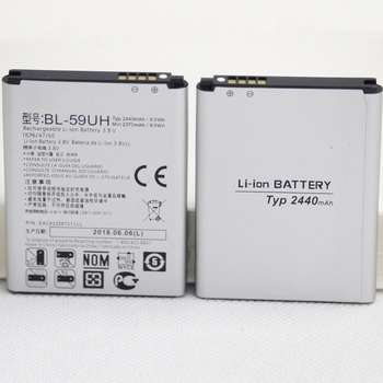 56f1e97b4d4 5 unids/lote nueva batería BL-59UH para LG G2 mini D618 D620 D620R D620K  D410 D315 F70 BL59UH de litio de 2440 mAh teléfono de reemplazo de la  batería