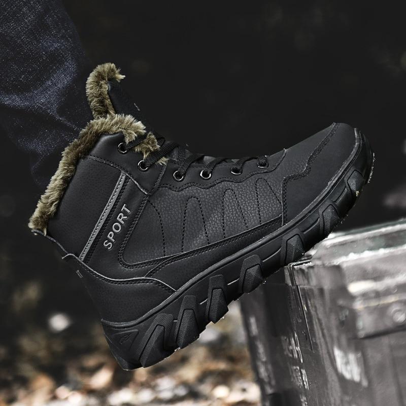 Inverno Homens Neve Livre Quente De 2018 Botas skid Grande Além Backcamel Anti Algodão Black Sapatos Dos Ar Ao 46 brown Tamanho Calçados Size38 Casuais 87qCnw