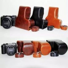 Кожаная сумка для камеры чехол для Panasonic Lumix GX8 14-140 мм объектив PU чехол с ремешком