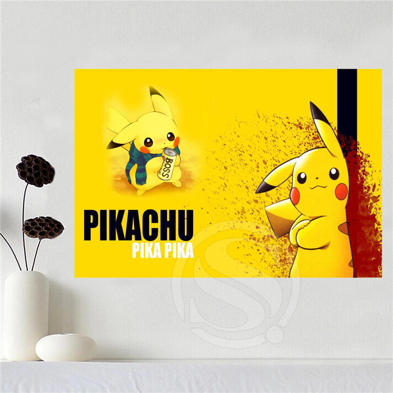 Custom canvas poster Art Pokemon Home Decoration poster cloth fabric ...