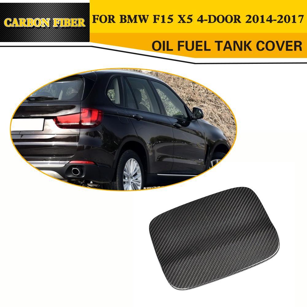 Углеродного волокна авто боковые нефть Крышка топливного бака Крышка накладка для BMW Х5 Ф15 4-дверный 2014-2017