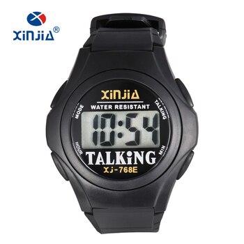 XINJIA New Talking Watch For Blind Men Women Casual Sport Digital Elderly Visially Impaired  Italian Arabic Russian Korean Time - sale item Men's Watches