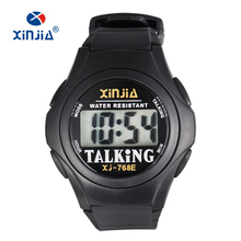 XINJIA New Talking Watch For Blind Men Women Casual Sport Digital Elderly Visial