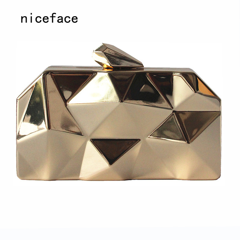 New fashion 2017 Women messenger bag brand wallet unique solid metal acrylic hand bag lady party prom Shoulder bag casual Clutch free shipping new fashion brand women s single shoulder bag lady messenger bag litchi pattern solid color 100