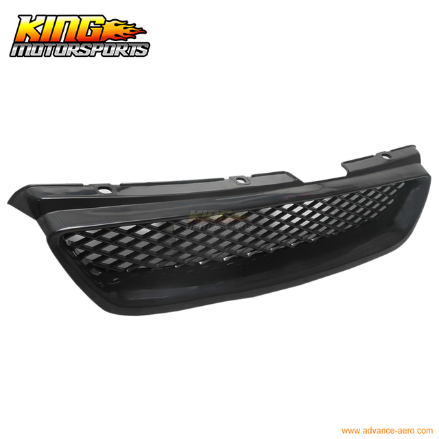 For 1998 2002 Honda Accord T R Jdm Mesh Black Front Grille 2 Door New 98 02 Usa Domestic Free Shipping Hot Ing