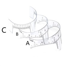 50 Pcs Model B Permanent Makeup Stencils Plastic Eyebrow Ruler Clear Tattoo Cosmetic Shaping Tool For The Beginers ethnic style western cowboy hat women s wool hat jazz hat western cowboy hat hot selling