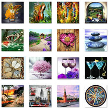 Diamond painting landscape, DIY 5D, diamond mosaic, landscape pattern decoration, handmade, cross stitch kit, embroidery