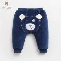 Simyke Niños Pantalones Harén Invierno Wram 2017New Gruesa Pantalones Para las Chicas Chicos Panda Pantalones Niño Bragas pantalones ropa Para Niños W6267
