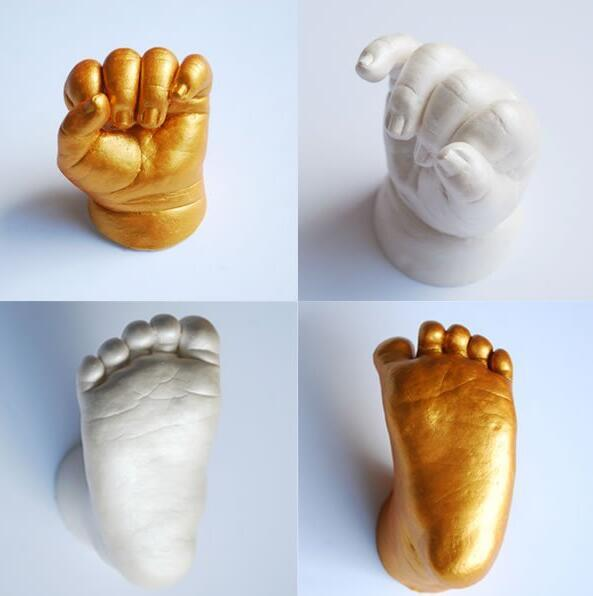 3d Hand & Foot Print Mold For Baby Powder Plaster Casting Kit Handprint Footprint Keepsake Gift Baby Growth Memorial