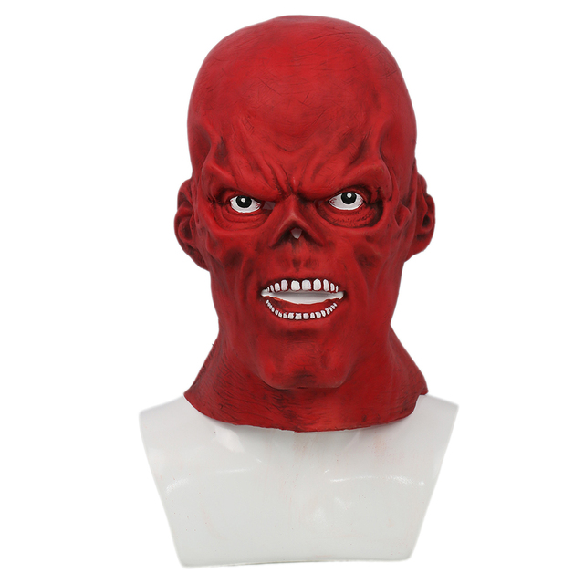 X-COSTUME Captain America Red Skull Full Head Latex Helmets Cosplay Costume Props