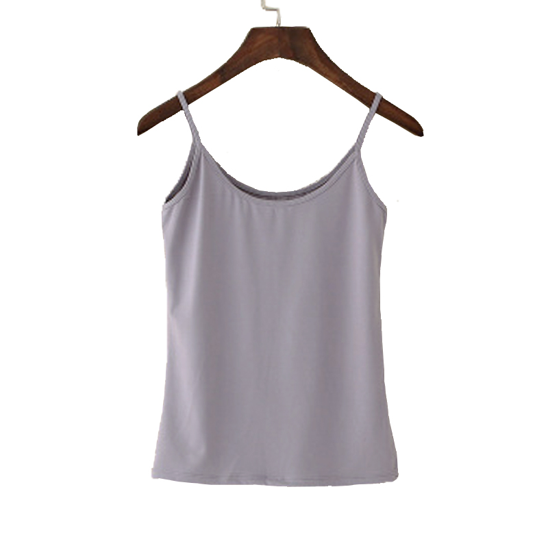 Sexy   Top     Tank     Top   Women Fashion Camisoles Women's   Tops   T-shirt Spaghetti Strap Cropped Vest Synthetic Cotton Pink Black White
