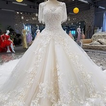Wedding dresses vestido de noiva lace flowers Ball Gown