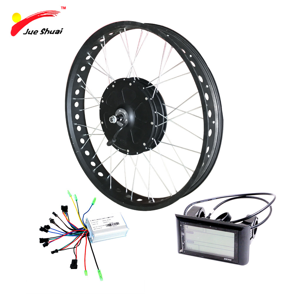 Powerful Electric Fat Bike Conversion Kit 48V 1000W 4.0 * 26 700C Fat Tire Hub Motor Wheel for Snow Bike Bicycle Free Shipping