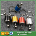 5 colors Car auto Tuning Gearshift Gear Shift lever 6 Speed Reverse Racing Keychain Key Chain Keyrings