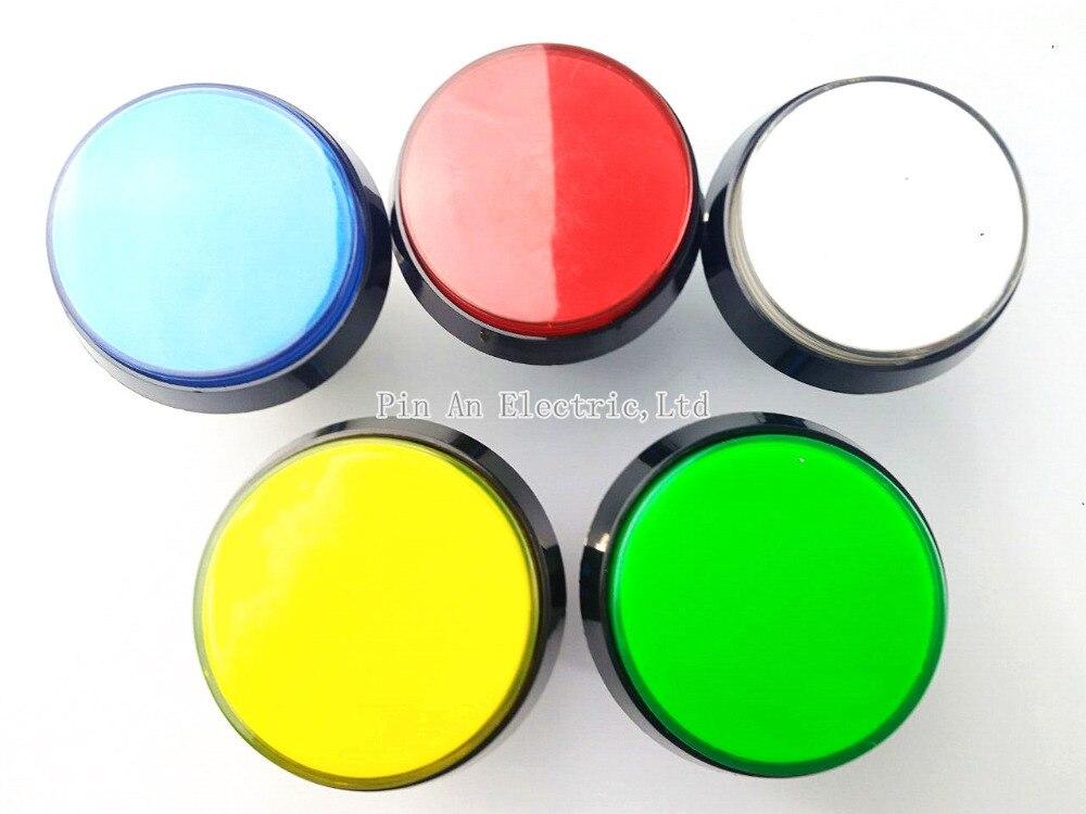 5 colores led lámpara de luz 60mm redondo grande reproductor de vídeo juego de a