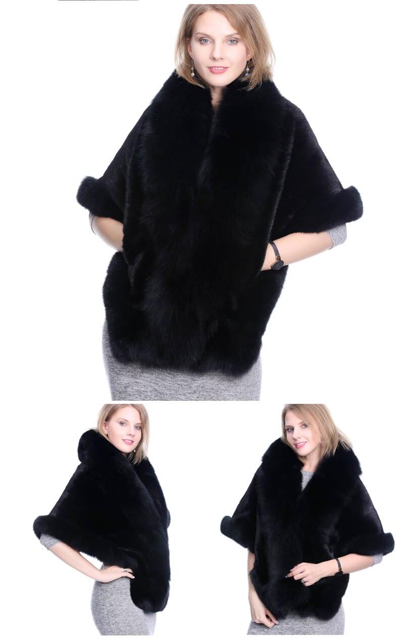 mink fur shawl fox fur trimmed (2)