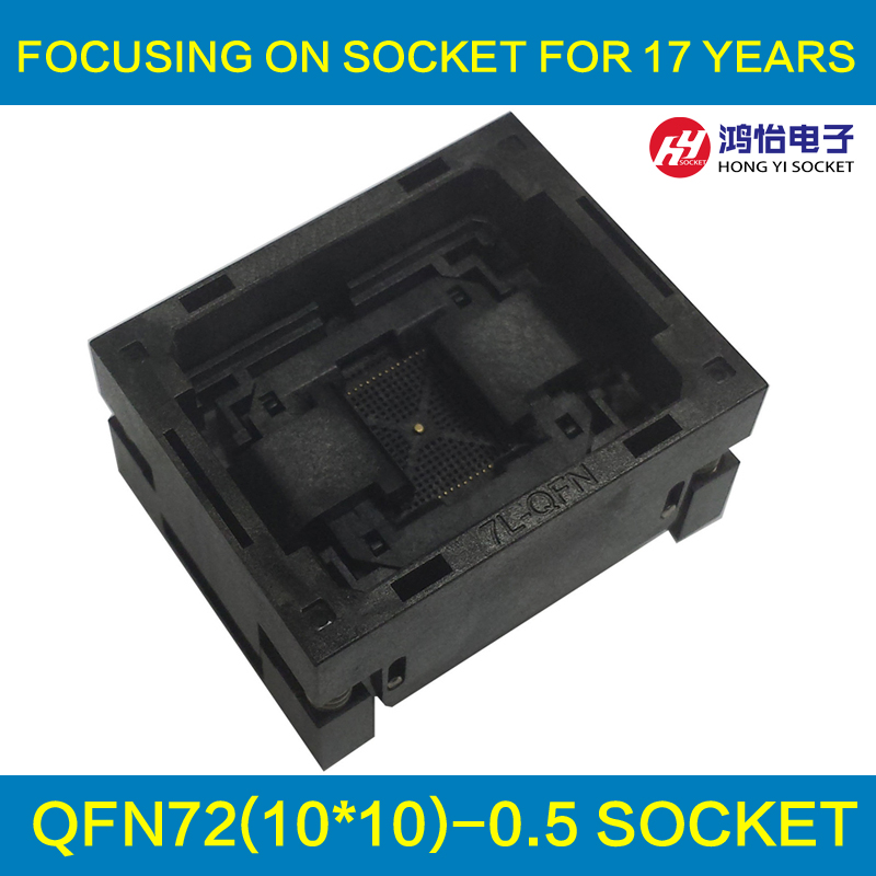 QFN72 MLF72 IC Test Socket Pitch 0.5mm Size 10*10 NP506-072-063-C-G Burn in Socket Flash Adapter Open Top Programming Socket
