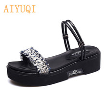 AIYUQI Women sandals 2019 new summer girls fashion two ways flat womens casual beach shoes woman