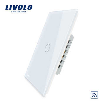 Livolo US standard Wall Light Remote&Touch Switch ,AC 110~250V ,White/Black glass panel, VL-C501R-11/12,Without Remote. - DISCOUNT ITEM  10% OFF All Category
