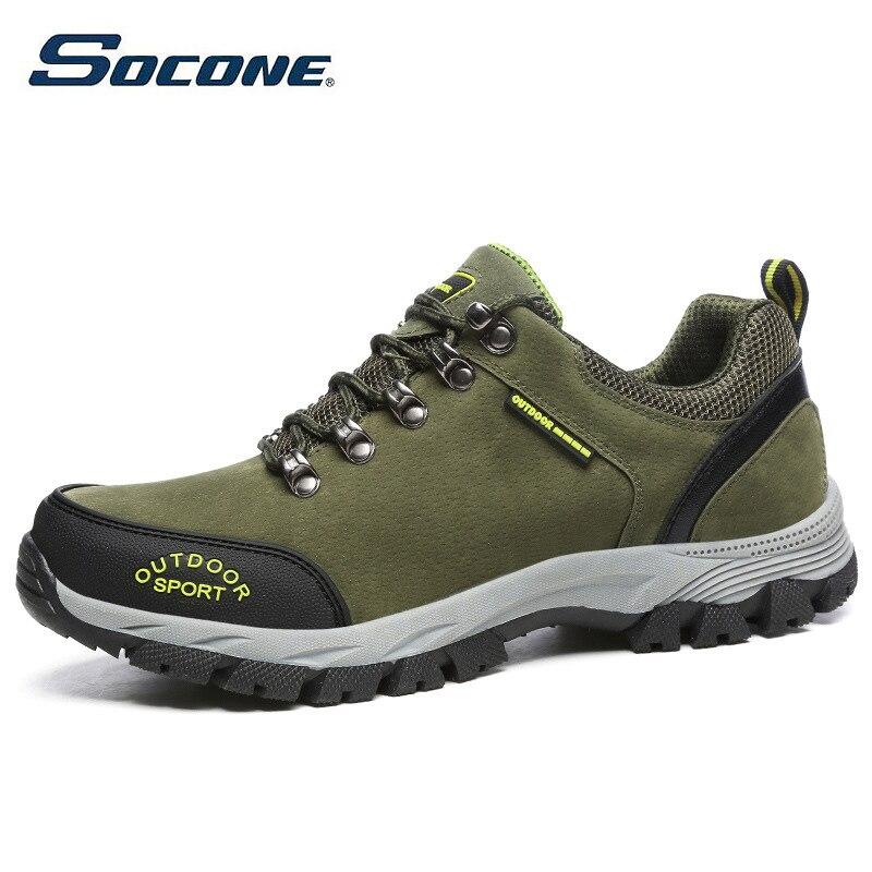 SOCONE hommes chaussures de randonnée chaussures de Sport confortables imperméable à l'eau en plein air chaussures de marche homme respirant escalade Trekking chaussure de montagne