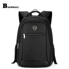 Bagsmall 15.6 дюймов ноутбук рюкзак сумка для ноутбука черный Для мужчин Бизнес рюкзак Водонепроницаемый дорожная сумка рюкзак для подростков