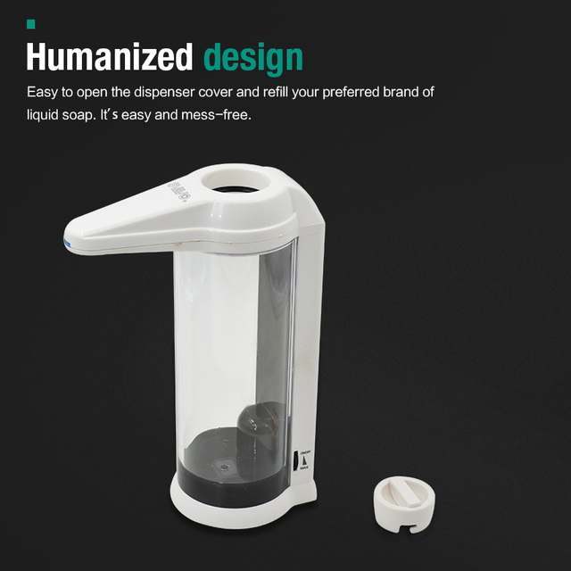 Hand Free 500ml Automatic Soap Dispenser Touchless Sanitizer Dispenser Smart Sensor Liquid Soap Dispenser for Kitchen Bathroom 2