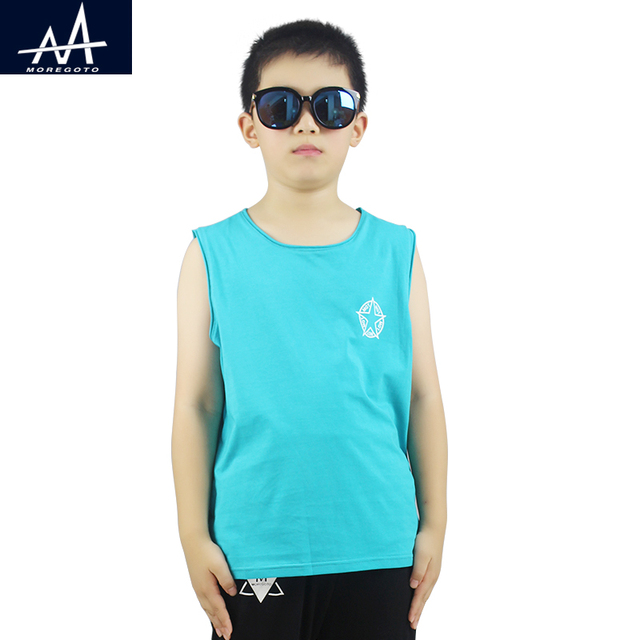 fc0f7f57cc727 2017 Tops for Boy Child Tank Tops Summer Cotton Sleeveless Tee Age  9-10-11-12Y Boys Vest Plain Casual Tops Underwear Teen Boys