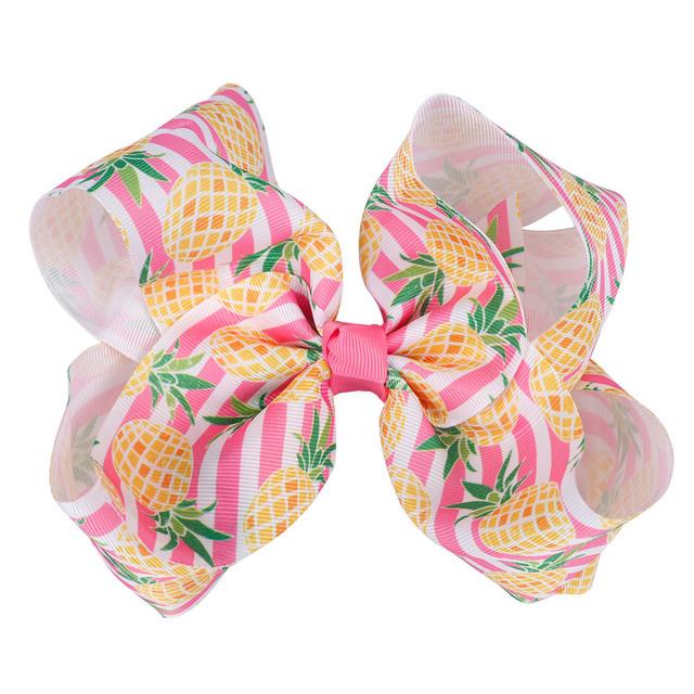 Girl's Fruit Printed Polyester Hair Bow