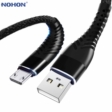 NOHON Micro USB Cable High Tensile Quick Charge Cable 1M 2M 3M For Samsung Xiaomi Huawei L