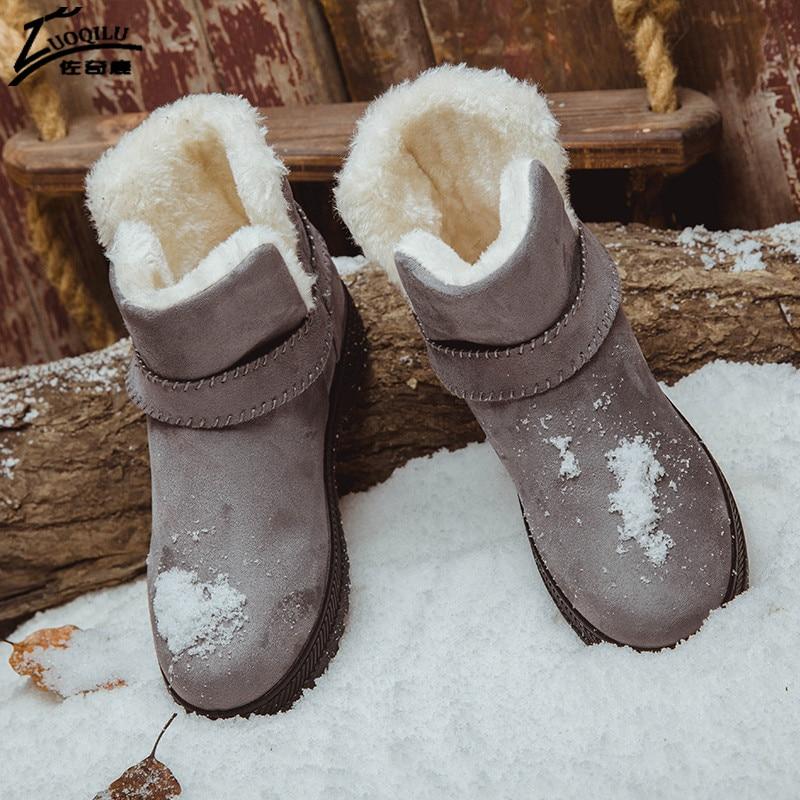 Для женщин Сапоги и ботинки для девочек зимние ботильоны женская зимняя обувь женские теплые боты Дамская обувь bota feminina Большие размеры 35–44