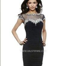 1684f647a20 Livraison gratuite 2016 noir court vestidos cristal perlé sexy grande  taille club élégant fête de noël robe de bal robes de .