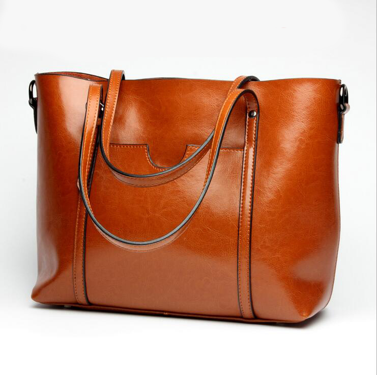Фотография 2017 New Women Handbag Genuine Leather Women Bag High Quality Shoulder Messenger Bag Casual Tote Women Handbags