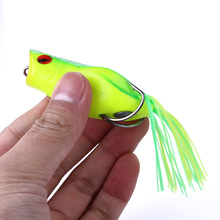 HENGJIA 1pc 7cm/14g soft ray frog popper fishing lures isca artificial hooks wobbler bait carp pesca tackle