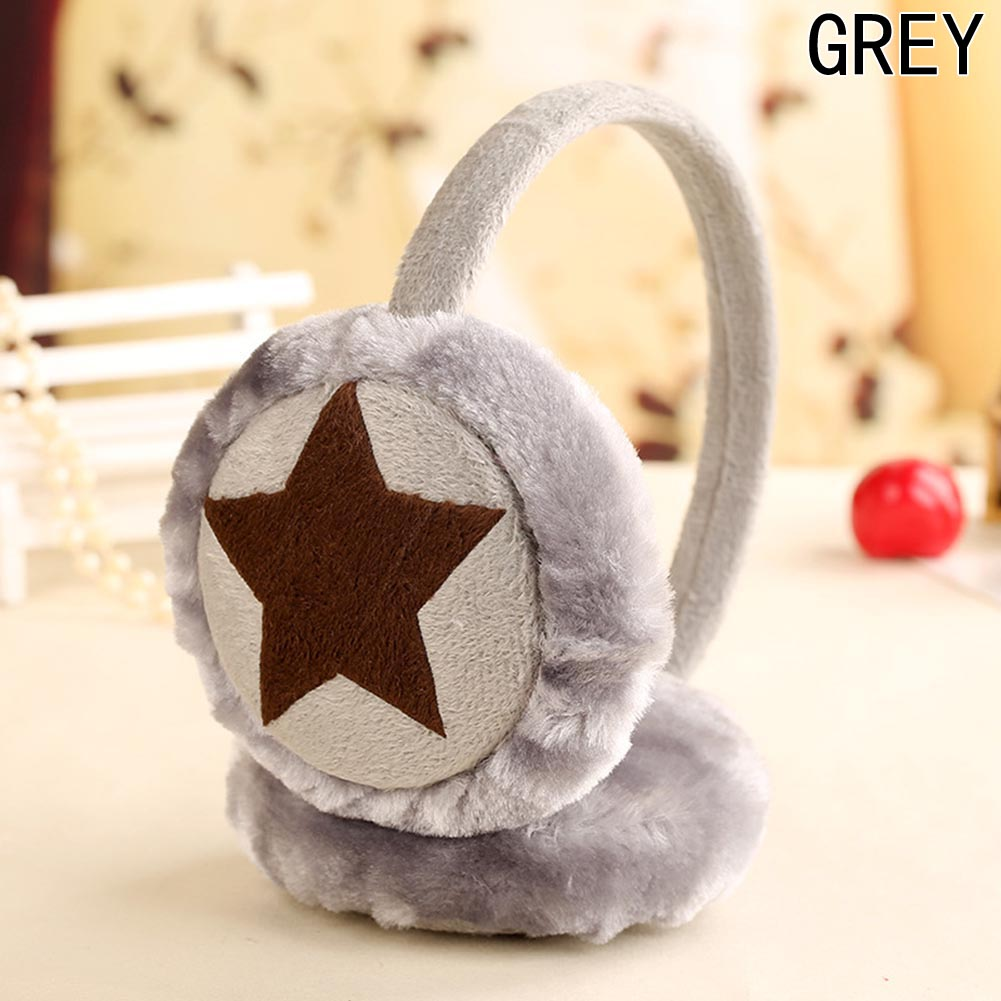 New Fashion New Girls Boys Winter Cute Cartoon Plush Earmuffs Kids Ear Cap Warm Star Shape Ear Muffs 6 Colors