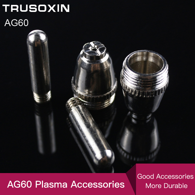 20PCS  Air Plasma Cutter AG-60 Cutting Torch/Gun Head Consumable For CUT40/50/60A Accessories Tips Electrodes
