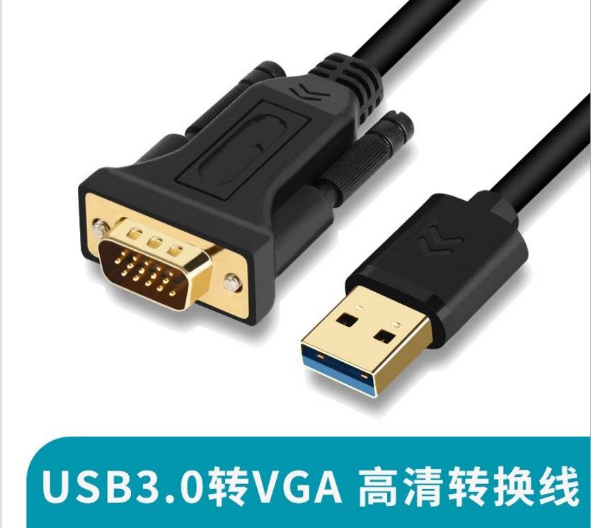 USB3.0 vers VGA ordinateur vers projecteur/moniteur câble adaptateur usb vers vga connecteur carte graphique externe PK4