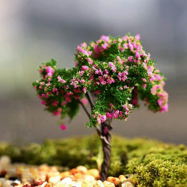 Mini Baum Pflanzen Miniatur Fairy House Puppenhaus Garten Diy Micro