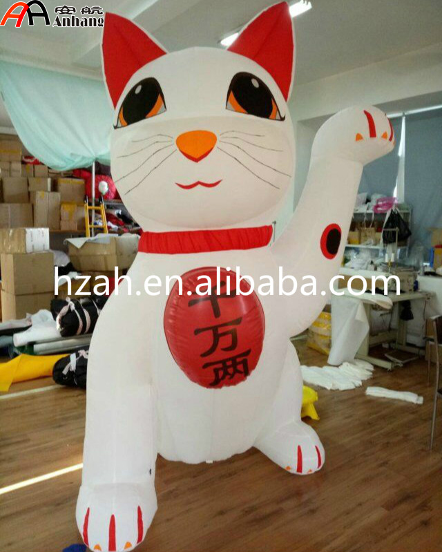 Giant Inflatable Maneki Neko Lucky Cat Cartoon