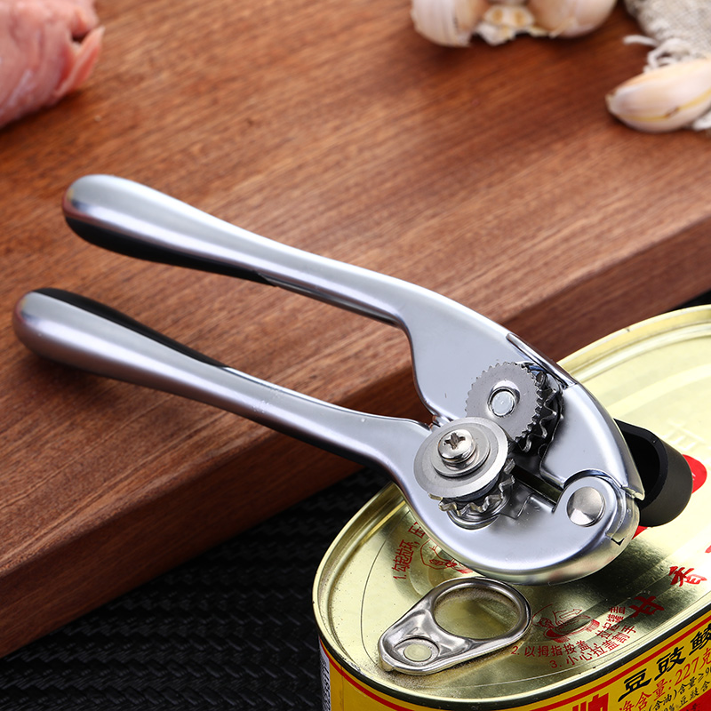 Zinc Alloy Professional Kitchen Tool Safety Hand-actuated Can Opener Side Cut Easy Grip Manual Opener Knife For Cans Lid Mx30904