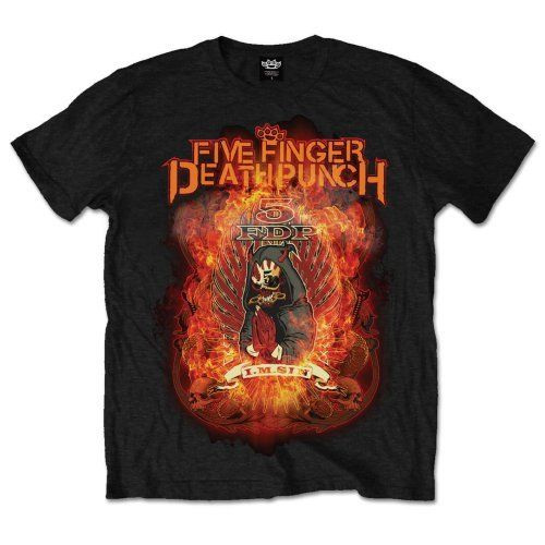 Five Finger Death Punch  Burn In Sin  T-SHIRT - Nuevo y Oficial