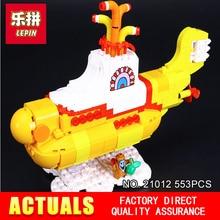 2017 Лепин 21012 Новый 553 Шт. The beatles yellow submarine Здание Blcoks Кирпичи Игрушки 21306