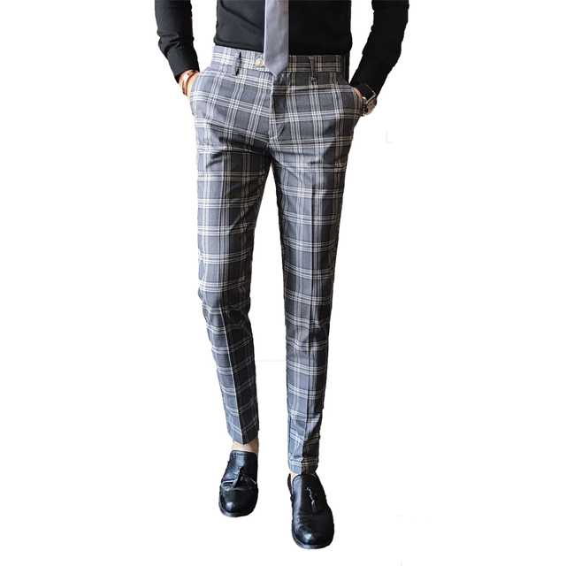 Business Casual Slim Fit Pants for Men 4