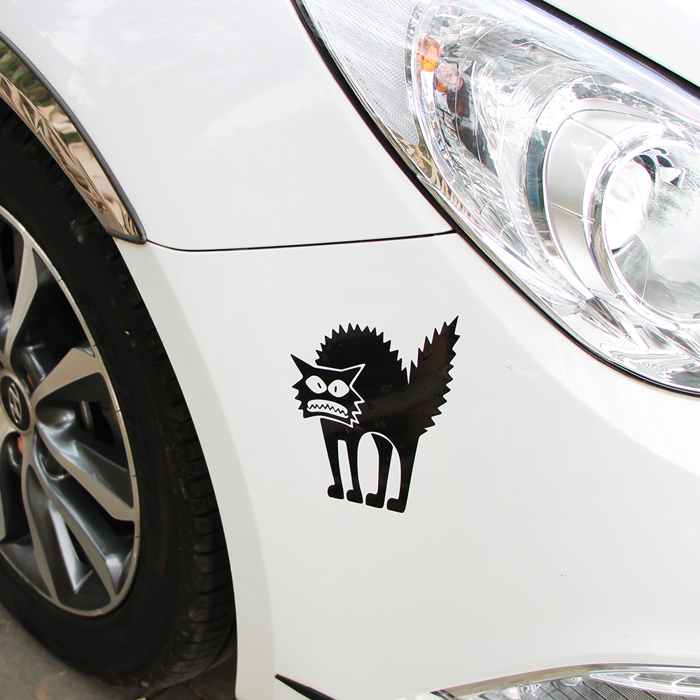 Car body sticker design for sale - Hot Sale Halloween Spooky Scary Cat Auto Body 3d Vinyl Stickers Decals Car Styling Motorcycle Accessories